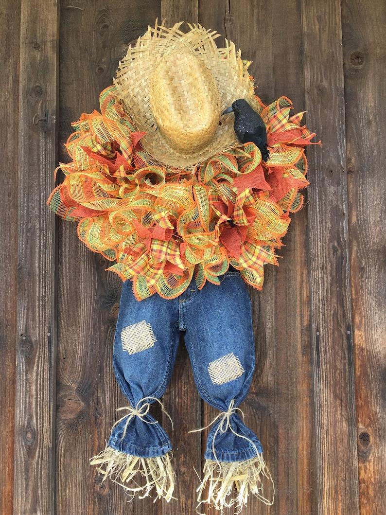 Scarecrow Wreath Etsy