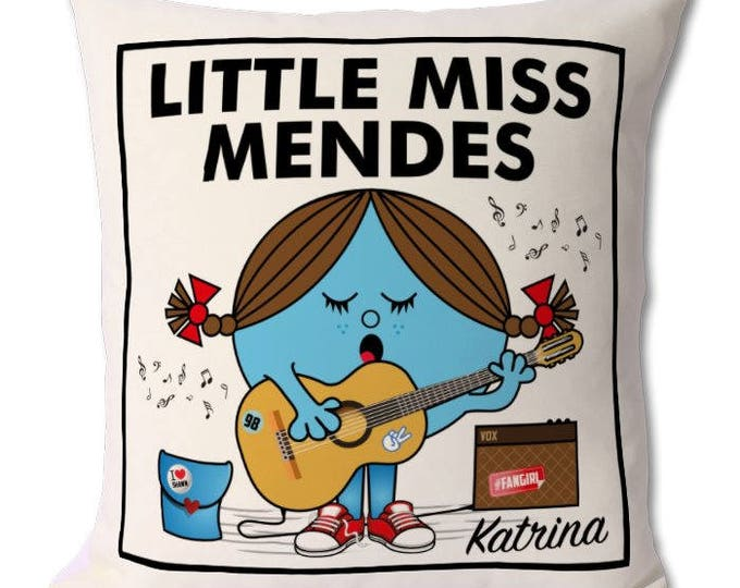 Personalised Little Miss Mendes Cushion