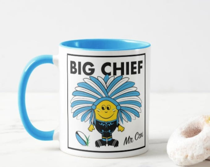 Personalised Rugby Mug. Chiefs Fan. Male & Female Versions.