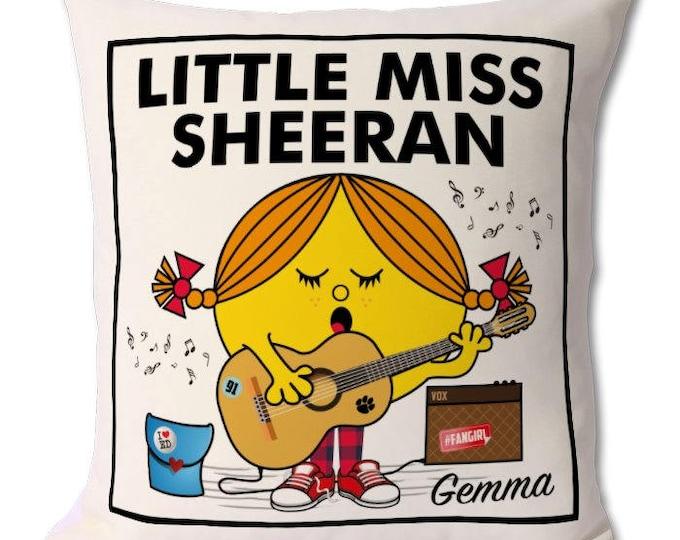 Personalised Little Miss Sheeran Cushion
