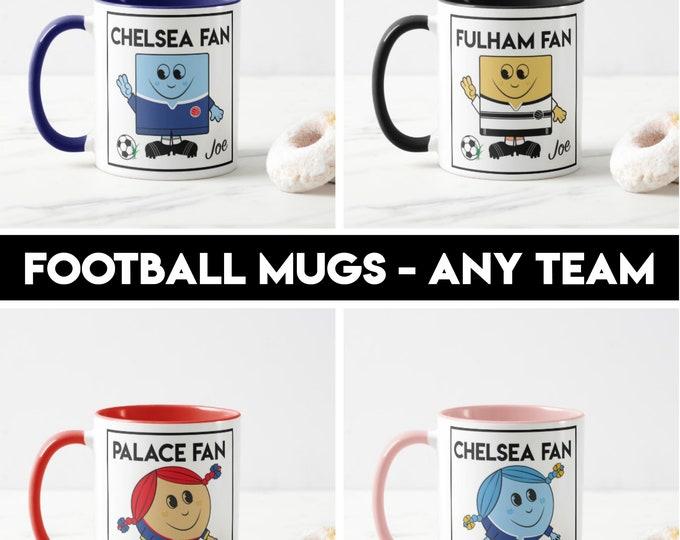 Football mugs (any team) - personalised