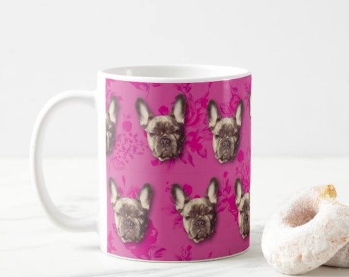French Bulldog Mug. Can be personalised with YOUR PETS FACE
