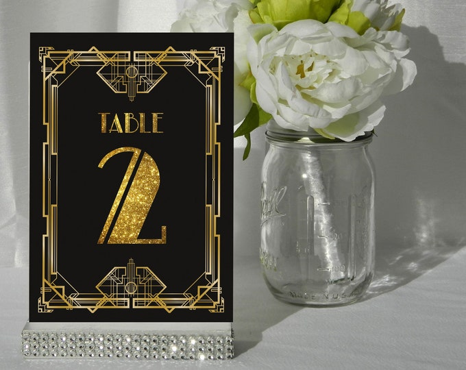 Art Deco Style Table Numbers. A6 Size