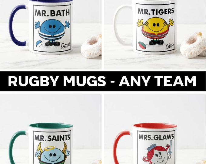 Personalised Rugby Mugs (any team)