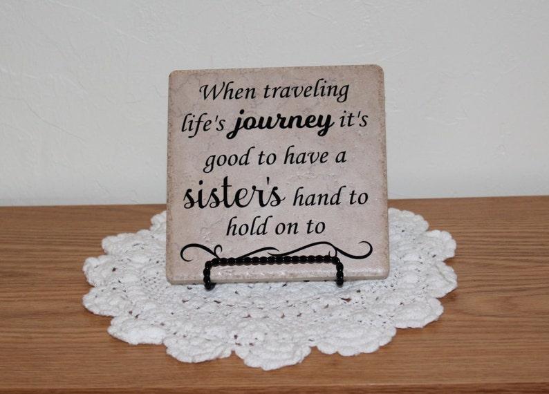 Quando viaggio piastrelle personalizzate sorella regalo etsy
