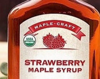 Organic Strawberry Maple Syrup