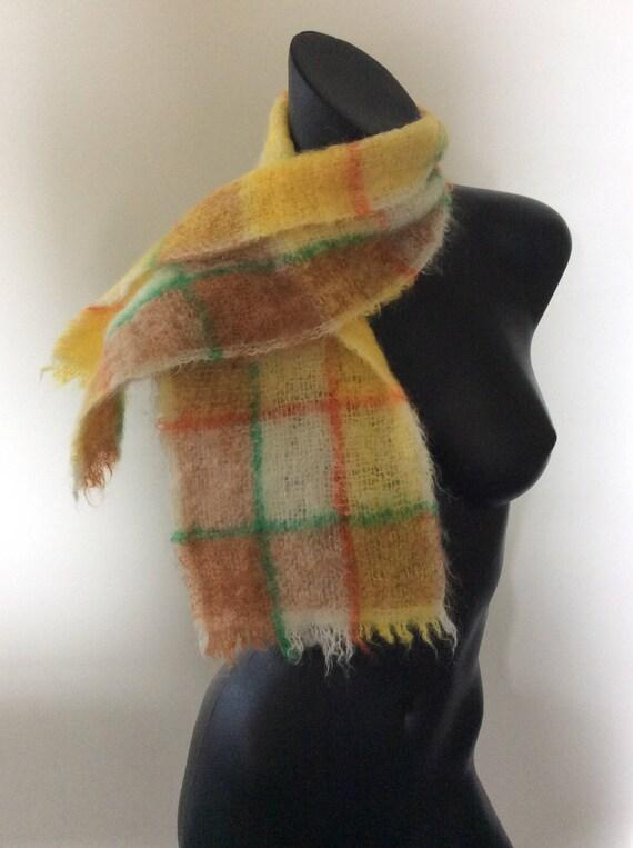Vintage Montrose écossais tissé à la main Mohair Echarpe en   Etsy e14ed305543