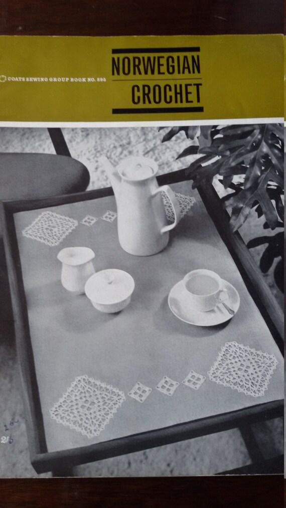 Norwegische häkeln, Mäntel Nähen Gruppe Buch keine 895 Muster Buch Klöppeln Broschüre, gedruckt in Schottland 1963, Hardanger inspirierten ...