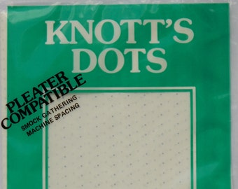 The original Knott's Dots! 24 row, iron on transfer dots, smocking dots, pleater dots