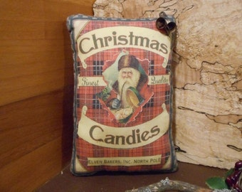Desks Shelves Teams: FAAP OFG  WRR4 Inches by 6 inches Small Christmas Truck Primitive Rustic Americana Pillow Tuck for Fire Mantles