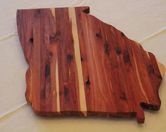 Georgia Cutting Board - Cedar Wood Serving Tray - Bread Board - Cheese Board - Cutting Board