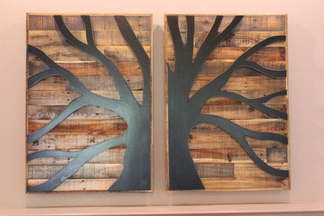 Pallet Wood Tree of Life Pallet Wood Wall Art Wood | Etsy
