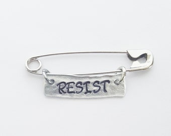 RESIST Ally Safety Pin