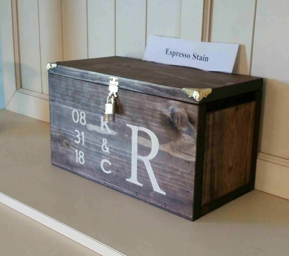 Personalized Wedding Card Box Industrial Style (X-Large)