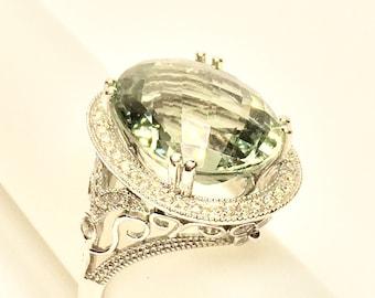 14k green Amatyst ring