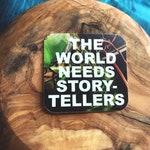 The World Needs Storytellers 2 Inch Overlay Vinyl Sticker