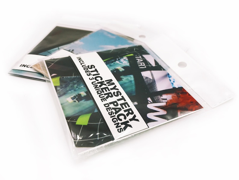 Mystery Sticker Pack  Pack of 3 Large Vinyl Stickers image 0