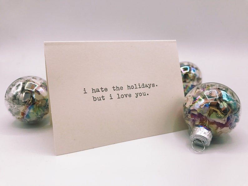 Happy Holiday Moody Hand-Typed Just Because Cards image 0