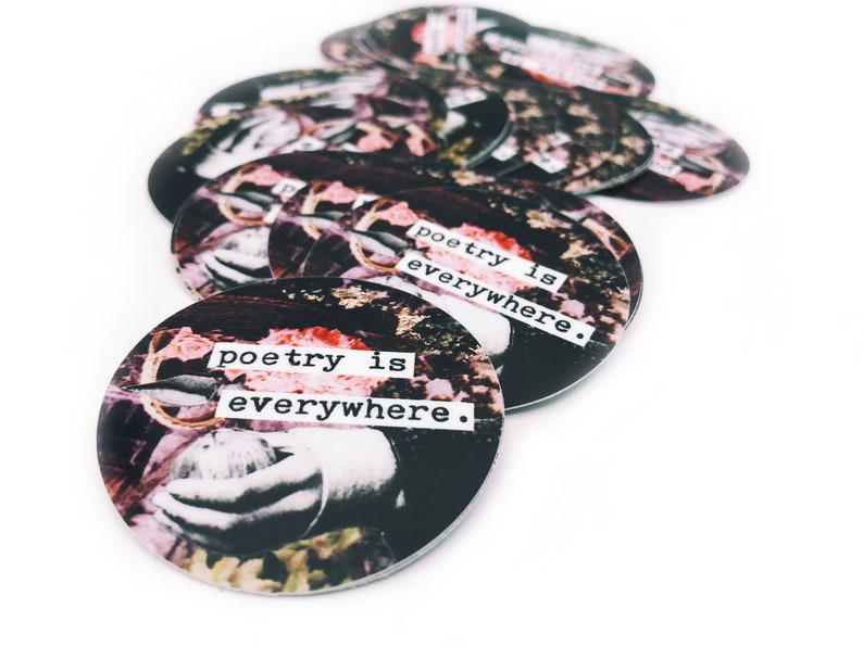 Poetry Is Everywhere 2 Inch Collage Vinyl Sticker image 0