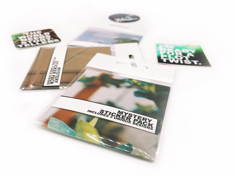 Mystery Sticker Pack  Pack of 3 Small Vinyl Stickers image 0