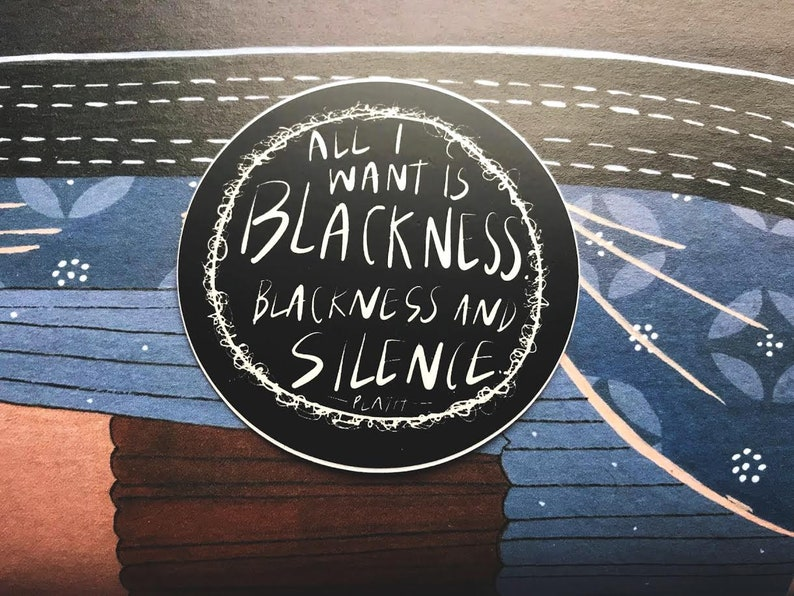 All I Want Is Blackness Slyvia Plath Quote 3 Inch Vinyl image 0
