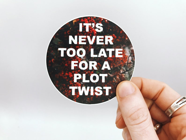 It's Never Too Late for a Plot Twist 3 Inch Round Vinyl image 0