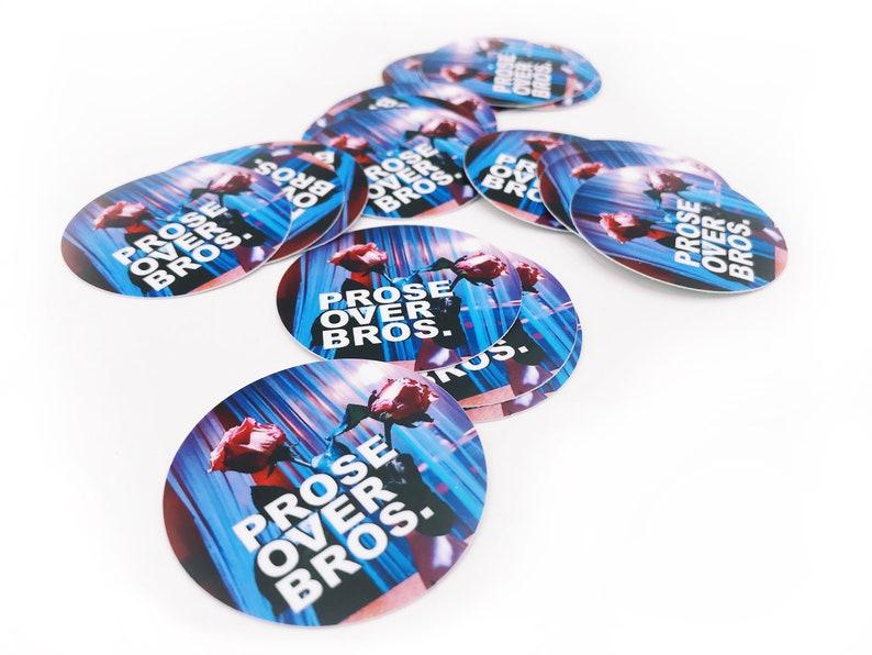 Prose Over Bros 2 Inch Overlay Vinyl Sticker image 0