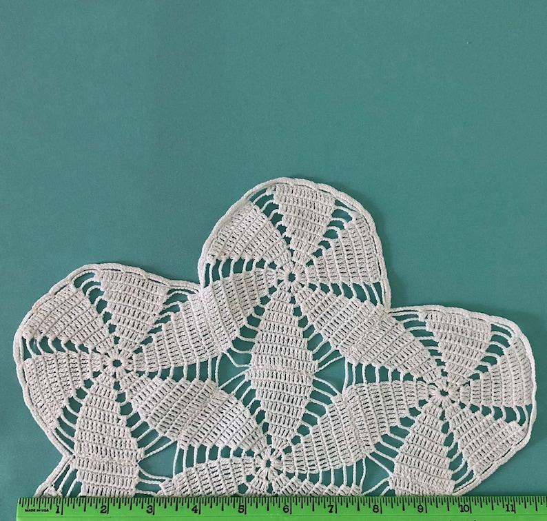 Handmade Hand Crocheted Doily Spiral Flowers Beautiful Flower Shaped White Doily