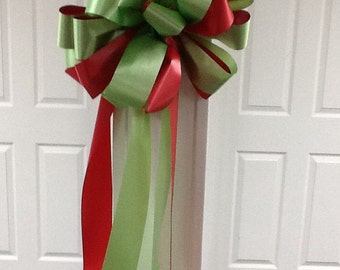 Red & Lime Green Bow
