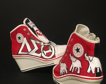 Delta Sigma Theta Hand-painted Sneakers
