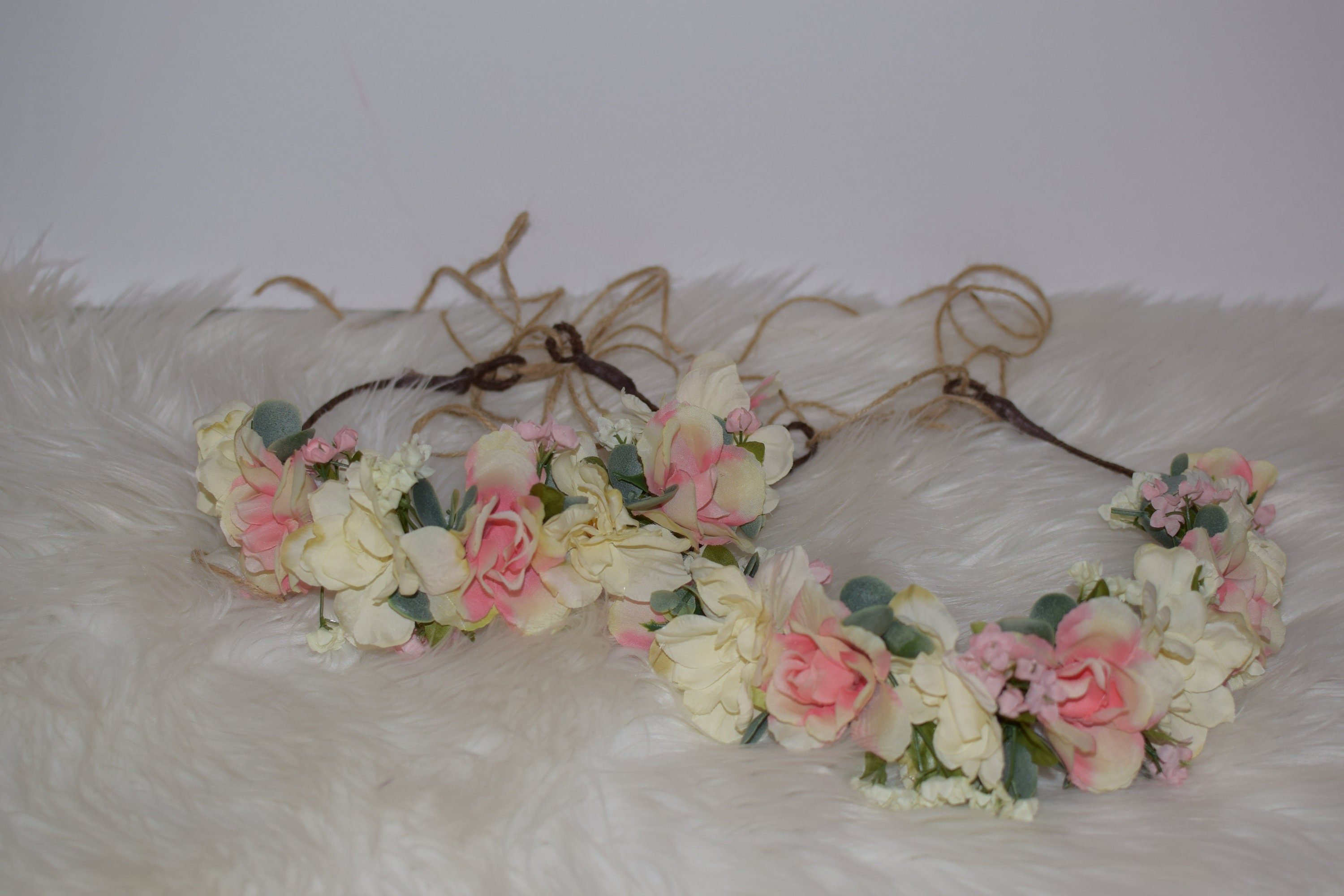 Mommy And Me Flower Crowns Bridesmaide Flower Girl Wedding Etsy