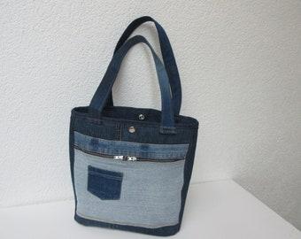 Tasche Aus Alter Jeans Etsy
