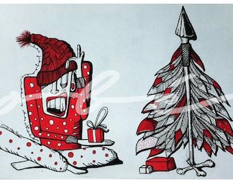 """Poster - """"Merry Christmas Christmas"""""""