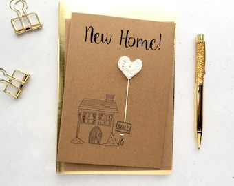 New house card - New home card - Moving day card - New place card - Moving home card - New house gift - housewarming card