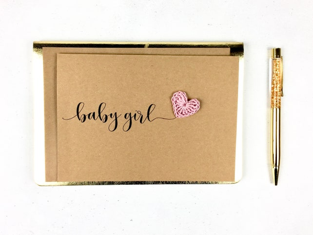 baby girl card it s a girl card card for new arrival card for