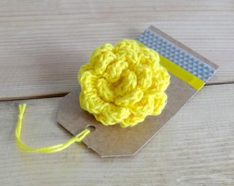 Yellow brooch - Yellow flower brooch - Yellow flower brooch - Yellow flower pin