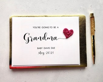 You're going to be a Grandma card - Pregnancy announcement
