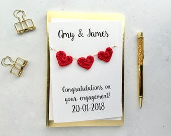 Engagement card - Personalised engagement card - White card.