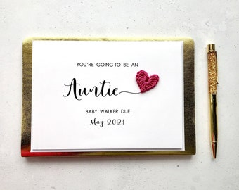 You're going to be an Auntie card - Pregnancy announcement