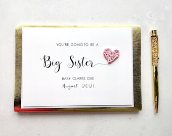 You're going to be a Big Sister card - Pregnancy announcement