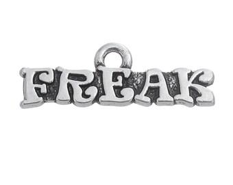 5 Freak Charms, Antique Silver Tone (1J-86)