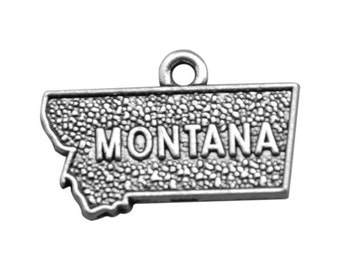 4 Montana State Charms, Antique Silver Tone (1J-77)