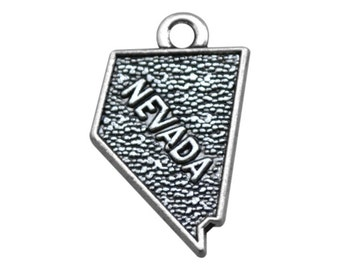 4 Nevada State Charms, Antique Silver Tone (1Q-24)