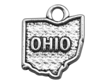 2 Ohio State Charms, Antique Silver Tone (1J-83)