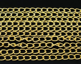 32ft Curb Chain, 5.5 x 3.5mm, Gold Plated (1S-42)