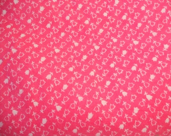 Soviet vintage fabric flannel 5,23 yards Item from USSR pink flannel cotton Soviet design Retro decor Collectible fabric soviet style