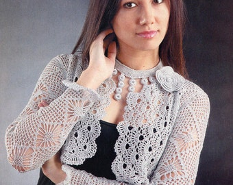 Women's clothing, women's bolero, crochet bolero.