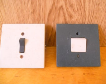 Soviet vintage set of electrical two  switches Retro set from USSR Plastic body Switch in style 1980-s