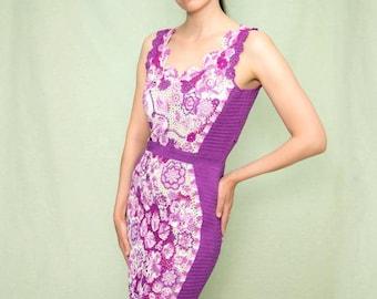 Crochet Women's dress, Crochet dress, Summer dress, sexy dress, dress with ireland motifs