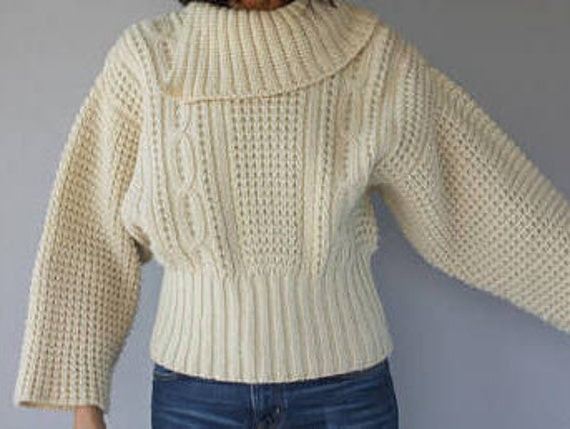 Perfect cosy knit Aran wool jumper/ sweater
